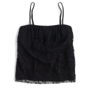 NWT • J Crew Pleated Fluttery Lace Cami